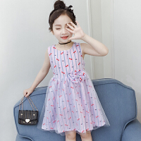 女童裙子儿童夏季薄款连衣裙2019新款12-15岁中大童休闲夏装