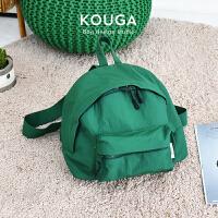 口嘎kouga小巧双肩包 女士可爱书包校园旅行新品运动纯色简约背包