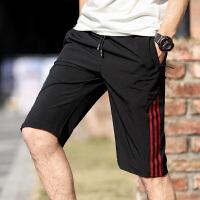 运动短裤男跑步健身速干休闲五分裤薄款夏季宽松训练中裤篮球裤QR199