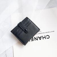 真皮短款钱包小巧薄款卡包女2018新款韩版牛皮两折多卡位迷你钱夹