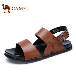 camel 骆驼男鞋 夏季男士透气露趾休闲沙滩鞋时尚凉鞋男