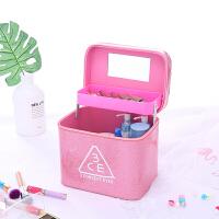 可爱韩国便携化妆包大容量专业旅行3ce化妆箱手提防水洗漱收纳包