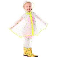 儿童雨衣 户外带书包位小孩学生斗篷雨披 男童女童雨裤套装