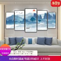 新中式装饰画现代简约客厅沙发背景墙壁画书房办公室靠山风水挂画 自店营年货