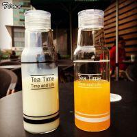 新款潮流韩国可乐汽水吊带玻璃水瓶柠檬随手tea time玻璃水杯