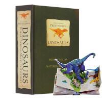 英文原版 史前恐龙立体书 3D折叠书 Encyclopedia Prehistorica Dinosaurs The D