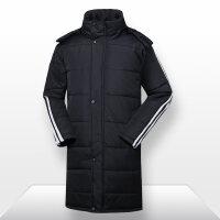 新款男童棉衣中长款加厚新款冬季男外套休闲运动大衣条纹保暖