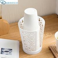 水杯架 镂空一次性杯子收纳架家用放纸杯的架子塑料创意杯架挂架