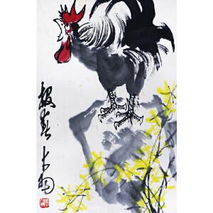 陈大羽《雄鸡报春》b34