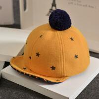 韩版宝宝帽子秋冬男童1-3岁小孩秋天保暖加厚儿童棒球女童鸭舌帽 均码