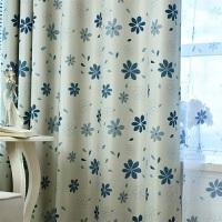 客厅卧室书房阳台加厚高遮光宜家风田园成品印花窗帘布帘纱帘定制