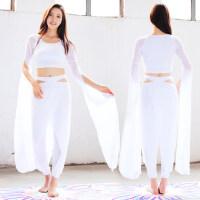 新款瑜伽假两件舞蹈演出服女显瘦瑜珈服运动健身套装女人棉瑜伽服套装女