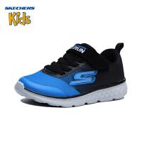 斯凯奇童鞋 (SKECHERS)儿童鞋 男童魔术贴运动鞋 舒适休闲鞋97685L-BKRY 黑色/宝蓝色(4岁―12岁