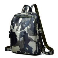 迷彩尼龙布男孩休闲旅行背包包韩版潮包轻便男童中大童儿童双肩包