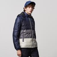 【全场2件2.5折,到手价:112.3】美特斯邦威旗下4M轻羽绒服男短款冬季连帽保暖外套青年