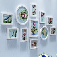 餐厅客厅实木照片墙相框墙组合挂墙北欧简约照片上墙木色创意装饰