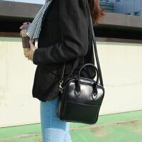 女包新款黑色亮皮手提包单肩斜挎小包包简约百搭小方包韩版潮 黑色