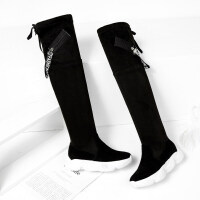 过膝靴女长靴平底女鞋2018新款秋冬季显瘦大腿高筒长筒靴子