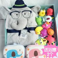 婴儿玩具礼盒套装宝宝洗澡戏水玩具浴巾毯新生儿初生满月礼品套盒