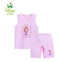 迪士尼(Disney)婴幼儿衣服婴儿夏装宝宝纯棉背心套装162T642