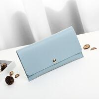新款时尚韩版女钱包长款皮夹时尚休闲软学生钱包