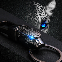 豹头汽车钥匙扣男腰挂件个性 车钥匙扣圈环男士创意礼品SN8377 黑色 648