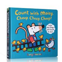 【全店300减100】英文原版 跟着小鼠波波一起数数 Count with Maisy, Cheep, Cheep, C