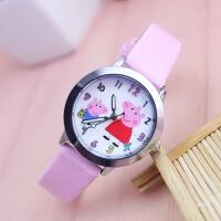 小女孩可爱卡通小猪儿童清晰数字手表石英水皮带韩版幼童手表