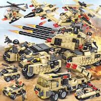 乐高积木军事坦克飞机益智力拼装儿童男孩子装甲车拼图6-10岁玩具