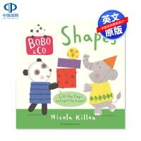英文原版 Bobo & Co Shapes 形状认知纸板书 低幼儿童英语启蒙读物 亲子互动
