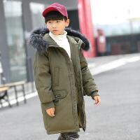 儿童羽绒服男童中长款童装2018新款中大童外套厚反季