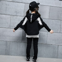 童装儿童爵士舞练功服装女童套装嘻哈街舞元旦演出服潮装加绒裤子