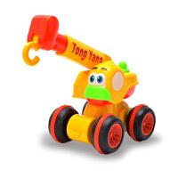 儿童玩具挖掘机工程车套装 3岁男女孩惯性吊车挖土车推土机系列 吊车 颜色随机