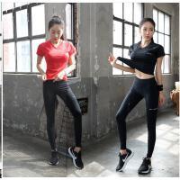 运动套装女夏跑步速干健身房休闲显瘦韩国健身服两件套