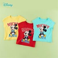【99元3件】迪士尼(Disney)童装 男童T恤纯棉圆领短袖2020年夏季新品儿童休闲上衣