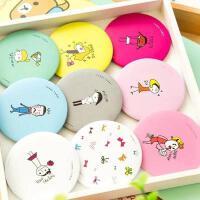 韩国新款卡通小圆镜创意随身镜便携化妆镜可爱女生小镜子礼品