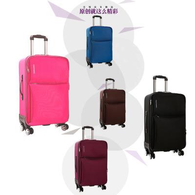 商务行李箱万向轮拉杆箱男女20寸密码旅行箱24寸26寸学生帆布箱子
