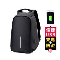 双肩包男女多功能充电防盗背包笔记本15.6寸17商务电脑包充电书包SN0334