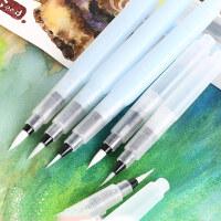 日本樱花自来水笔毛笔固体水彩大容量水彩画笔储水毛笔水毛笔