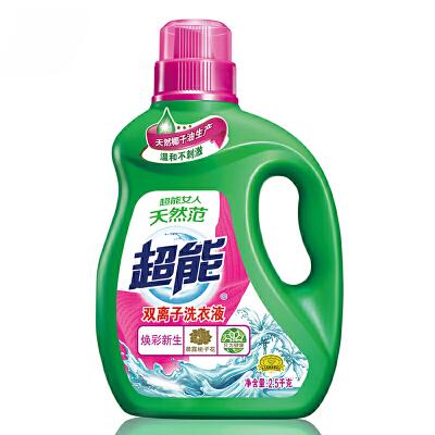 超能 双离子洗衣液(焕彩新生) 2.5kg自营正品 货到付款