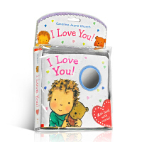 【全店300减110】英文原版 I Love You Cloth Book 布书 睡觉书 爱的晚安系列 Caroline Jayne Church 0-3岁幼儿趣味绘本 玩具书
