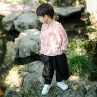 儿童唐装男童中国风夏装儿童宝宝女童1周岁3礼服短袖中国风童装