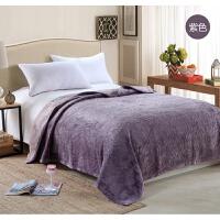 秋冬加厚法兰绒绗缝床盖毯子 纯色柔软短毛绒毯床垫床单