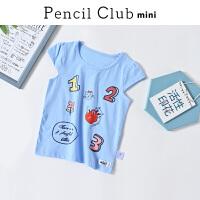 【3件2折:19.8】铅笔俱乐部童装2020夏装新款女童圆领T恤小童短袖儿童透气上衣