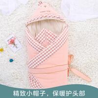 婴儿抱被秋冬包被新生儿纯棉抱被睡袋宝宝防踢被
