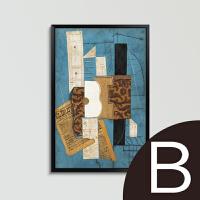 欧式装饰画客厅现代抽象三联画挂画壁画油画酒店墙画有框画 B款 ABP15003-2