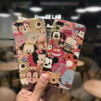 苹果iPhone7/7plus创意卡通迪士尼硅胶软套全包手机壳 苹果6S唐老鸭手机壳软套 苹果6plus米奇米妮手机壳