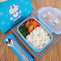 学生饭盒304不锈钢儿童分格防烫便当盒密封防漏食品级便携快餐盒