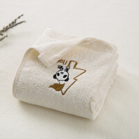 韩国namo's 天然木质纤维面巾毛巾洗脸巾熊猫图案清洁洁面方巾盒装