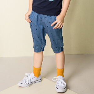 【3折价:77.7元】水孩儿souhait男童短裤2018夏季新款休闲五分裤运动短裤AKQXM552